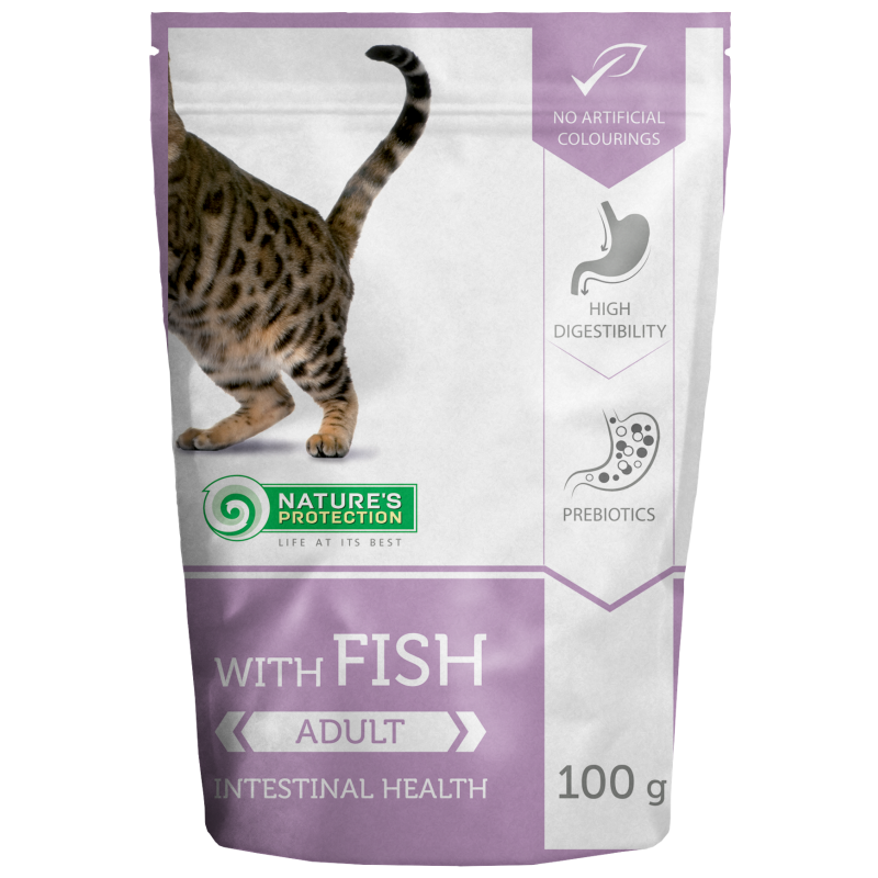 Natures Protection Cat Intestinal Health Fish 100 G