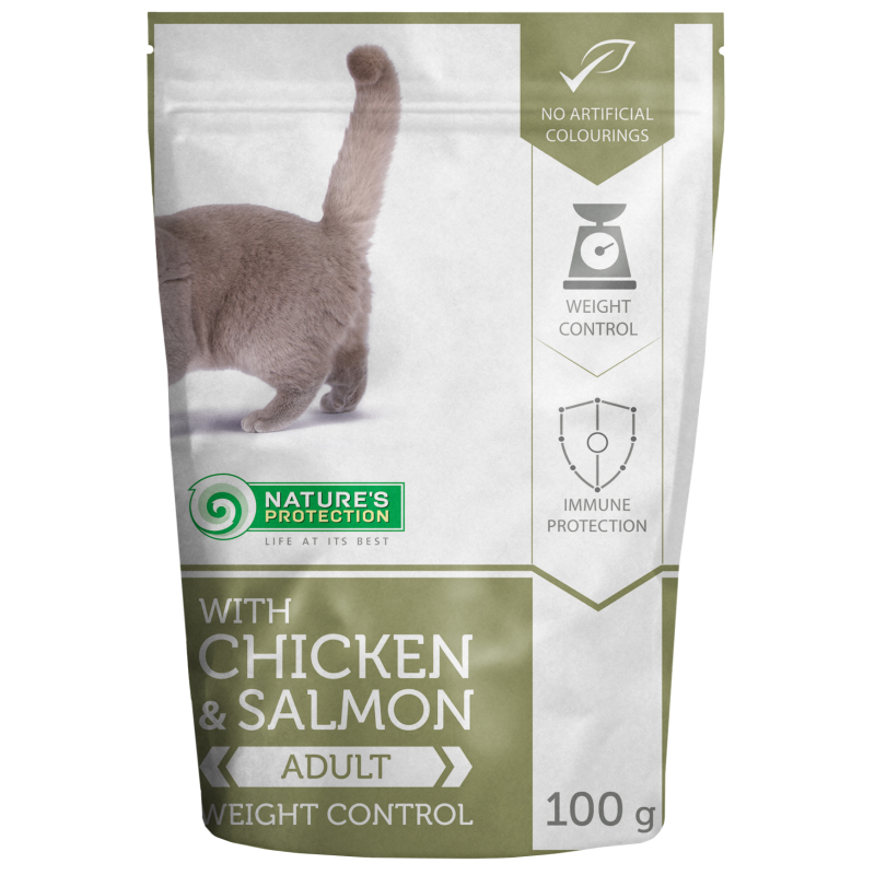 Natures Protection Cat Weight Control Chicken&Salmon 100 G
